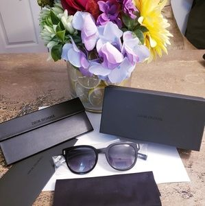 NEW Authentic DIOR Black Wayfarer Sunglasses